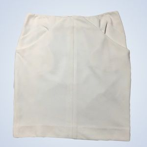 Diane Von Furstenberg White Pencil Skirt Size 6